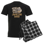 Japillon Dog Dad Men's Dark Pajamas