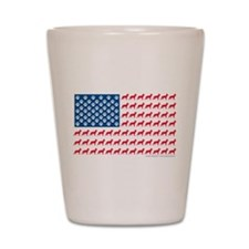 Patriotic German Shepherd Shot Glass
