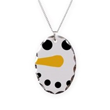 Snow Man Face - Snowman Face - Carrot Coal Necklac