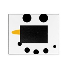 Snow Man Face - Snowman Face - Carrot Coal Picture Frame