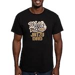 Jatzu Dog Dad Men's Fitted T-Shirt (dark)