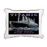 Titanic Neon (black) Rectangular Canvas Pillow
