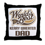 Kerry Wheaten Dog Dad Throw Pillow