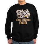 King Cavrin Dog Dad Sweatshirt (dark)