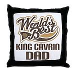 King Cavrin Dog Dad Throw Pillow