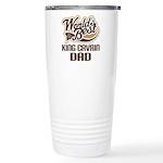King Cavrin Dog Dad Ceramic Travel Mug