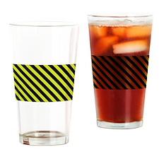 Warning Stripe Drinking Glass