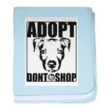 Adopt, Don't Shop baby blanket