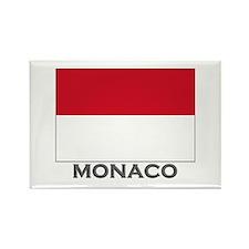 Monaco Flag Stuff Rectangle Magnet
