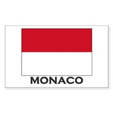 Monaco Flag Gear Rectangle Decal