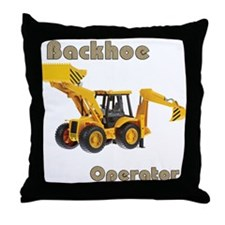 Backhoe Throw Pillow