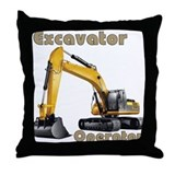 The Excavator Throw Pillow