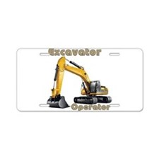 The Excavator Aluminum License Plate
