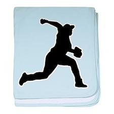 Baseball Pitcher baby blanket