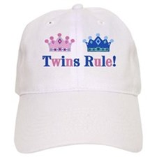 Twins Rule! (Girl & Boy) Baseball Cap