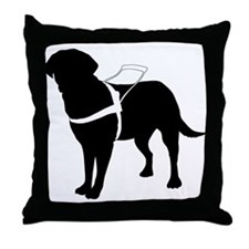 Seeing Guide Dog Throw Pillow