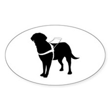 Seeing Guide Dog Oval Decal