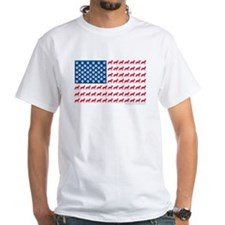 German Shepherd USA American FLAG - Shirt