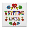 Knitting Lover Tile Coaster