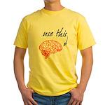 Use brain Yellow T-Shirt