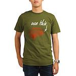 Use brain Organic Men's T-Shirt (dark)