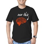 Use brain Men's Fitted T-Shirt (dark)