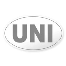 unicycle oval bumper sticker