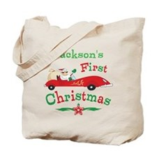 Custom 1st Christmas Tote Bag