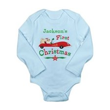 Custom 1st Christmas Long Sleeve Infant Bodysuit