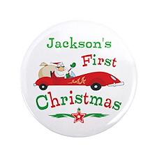 """Custom 1st Christmas 3.5"""" Button"""