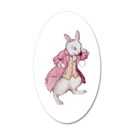 Alice's White Rabbit 20x12 Oval Wall Decal
