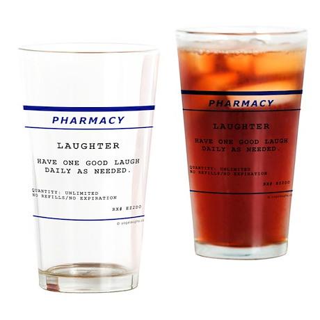 Laughtees Laughter Prescription Label Drinking Gla