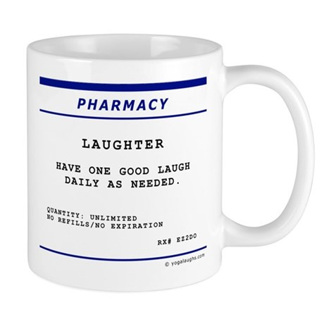 Laughtees Laughter Prescription Label Mug