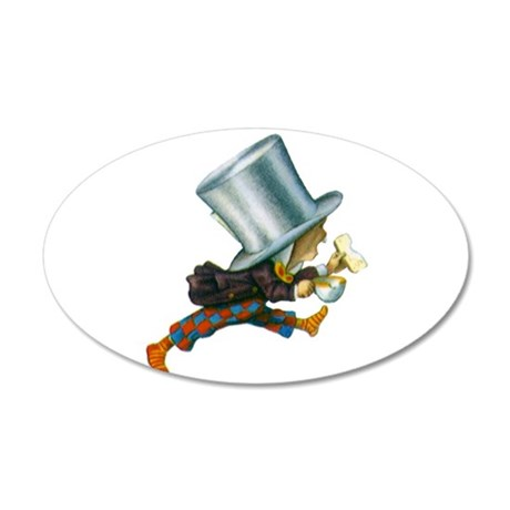 The Mad Hatter 20x12 Oval Wall Decal