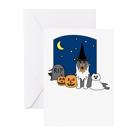 Rough Collie Halloween Greeting Cards (Pk of 10)