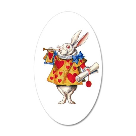Alice's White Rabbit 35x21 Oval Wall Decal