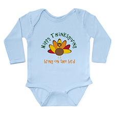 Happy Thanksgiving Long Sleeve Infant Bodysuit