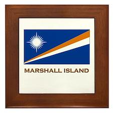 The Marshall Islands Flag Gear Framed Tile