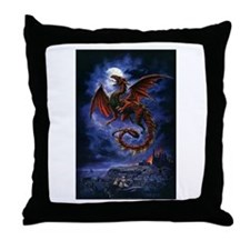 Funny Dragon Throw Pillow