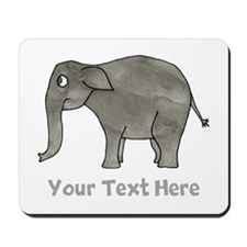 Asian Elephant and Text. Mousepad