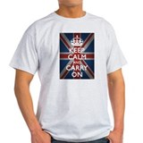 Keep Calm And Carry On (with Union Jack) T-Shirt