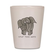 Elephant. Custom Text. Shot Glass