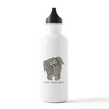 Elephant. Custom Text. Water Bottle