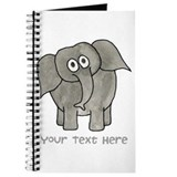 Elephant. Custom Text. Journal