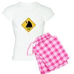 Falling Cow Zone Yellow Women's Light Pajamas