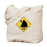 Falling Cow Zone Yellow Tote Bag