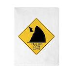 Falling Cow Zone Yellow Twin Duvet
