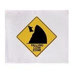 Falling Cow Zone Yellow Throw Blanket