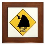Falling Cow Zone Yellow Framed Tile