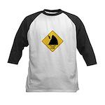 Falling Cow Zone Yellow Kids Baseball Jersey